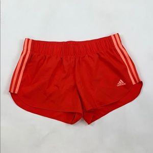 Adidas Orange Athletic Shorts
